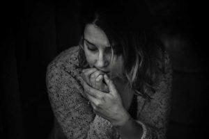woman in dark mood